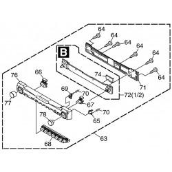 Placa controladora frontal extraíble AVIC-X1