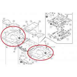 Placa controladora Pioneer XDJ-RX -DWX3614