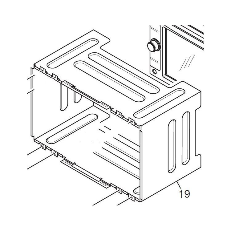 Caja externa para encastrar equipos Pioneer en salpicadero - CND3430