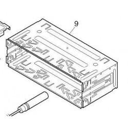 Caja externa para encastrar equipos Pioneer en salpicadero