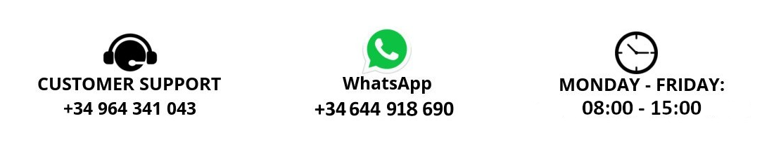 Contact phone and comercial time.