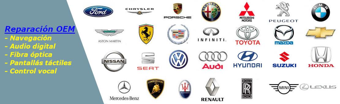 Reparación y recambios para sus equipos de Car-Audio y Navegación de cualquier marca